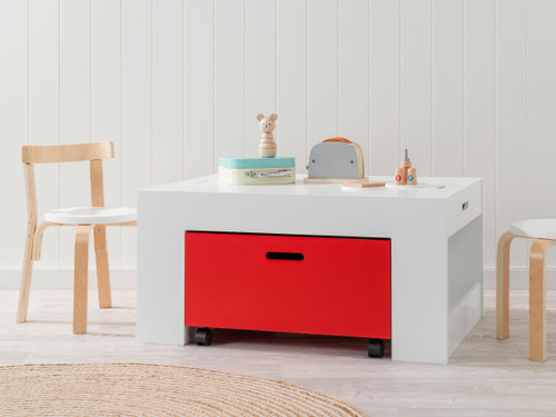 Kids Activity Table - White / Red