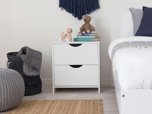 Brooklyn Bedside Table - White