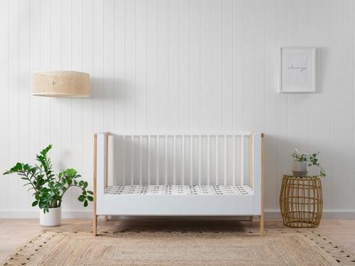 Mocka Cot Toddler Bed Conversion - White