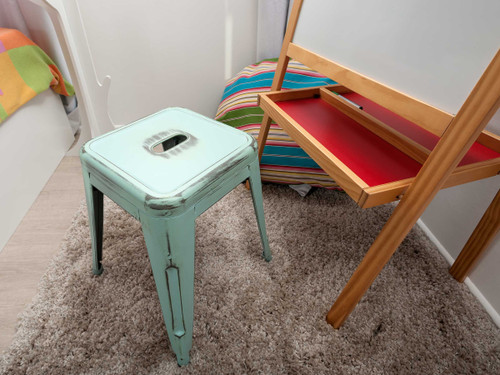 Vintage Bar Stool Small - Blue