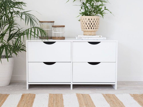 Brooklyn Midi Drawers - White Drawers