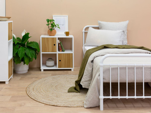 Sonata Bed - Single - White