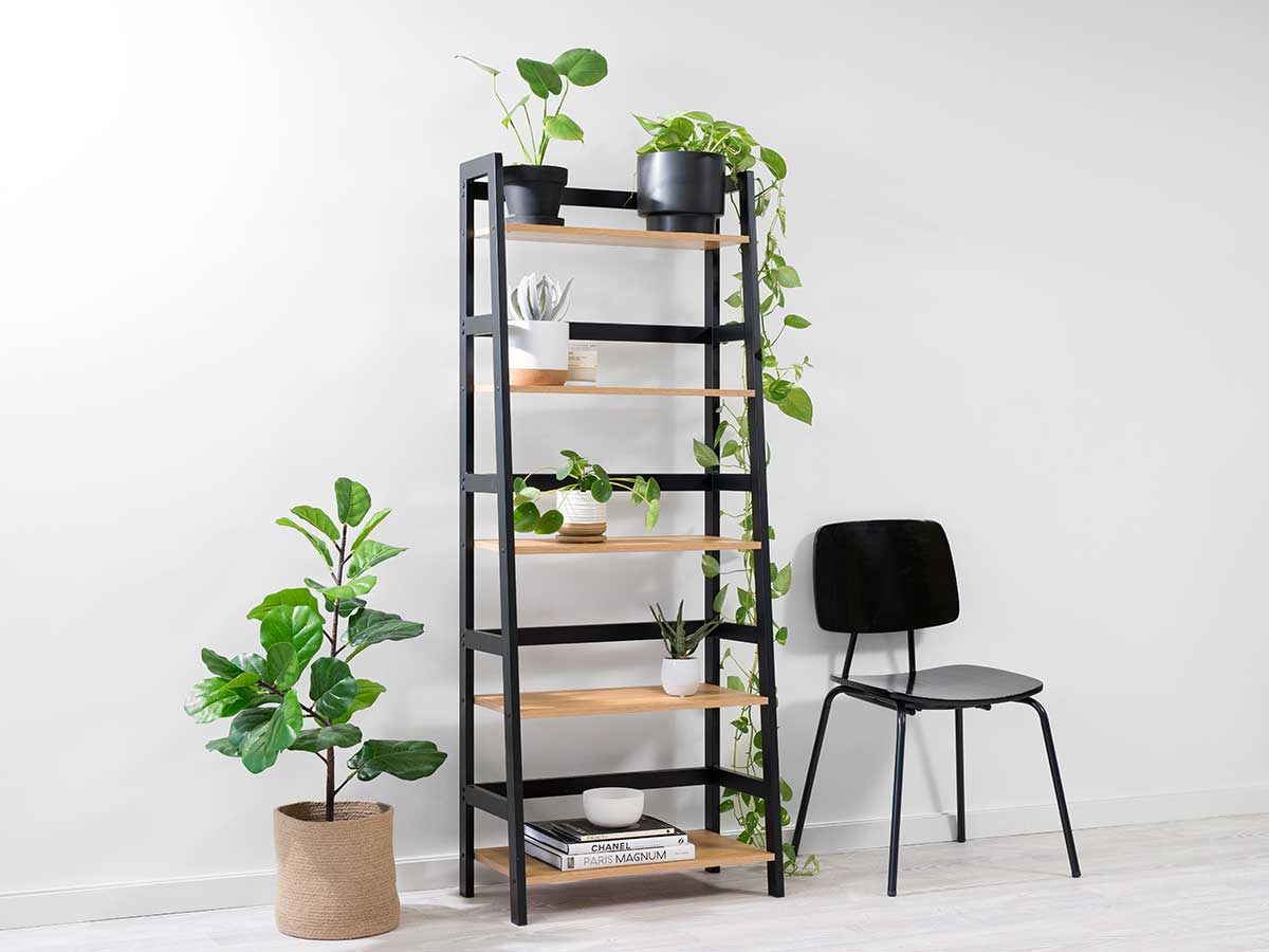 Porto Five Shelves - Black