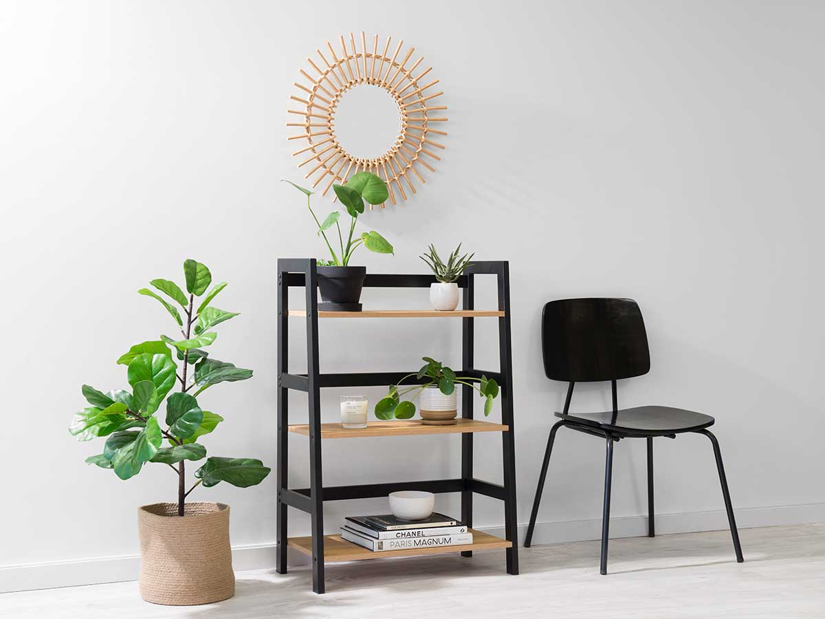 Porto Three Shelves - Black