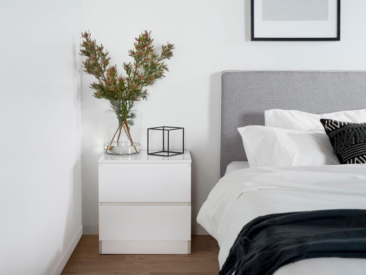 Jolt Bedside Table - White