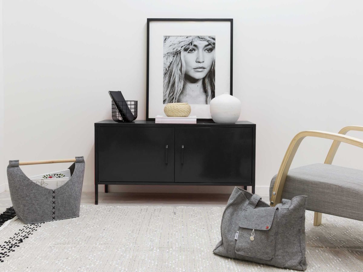 Locka Console Table - Black