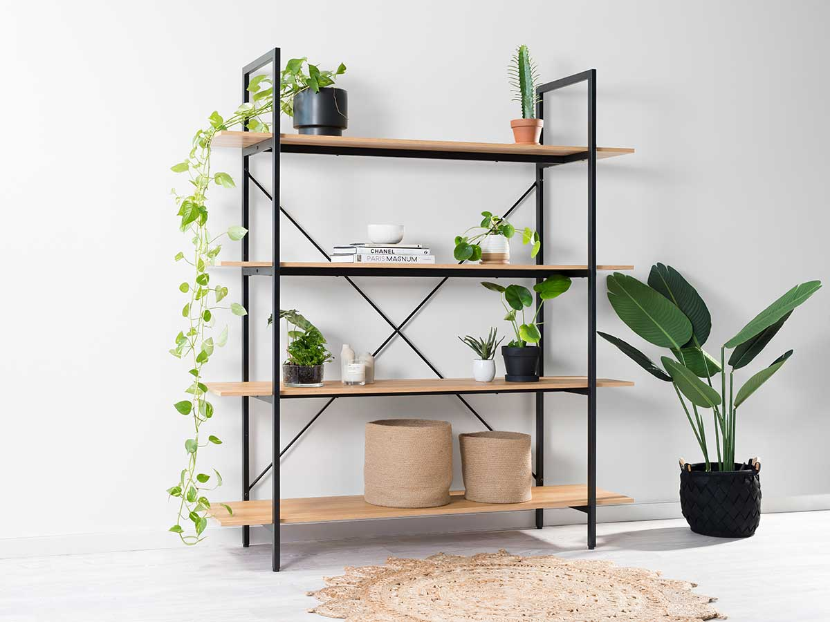 Porto Bookcase - Black