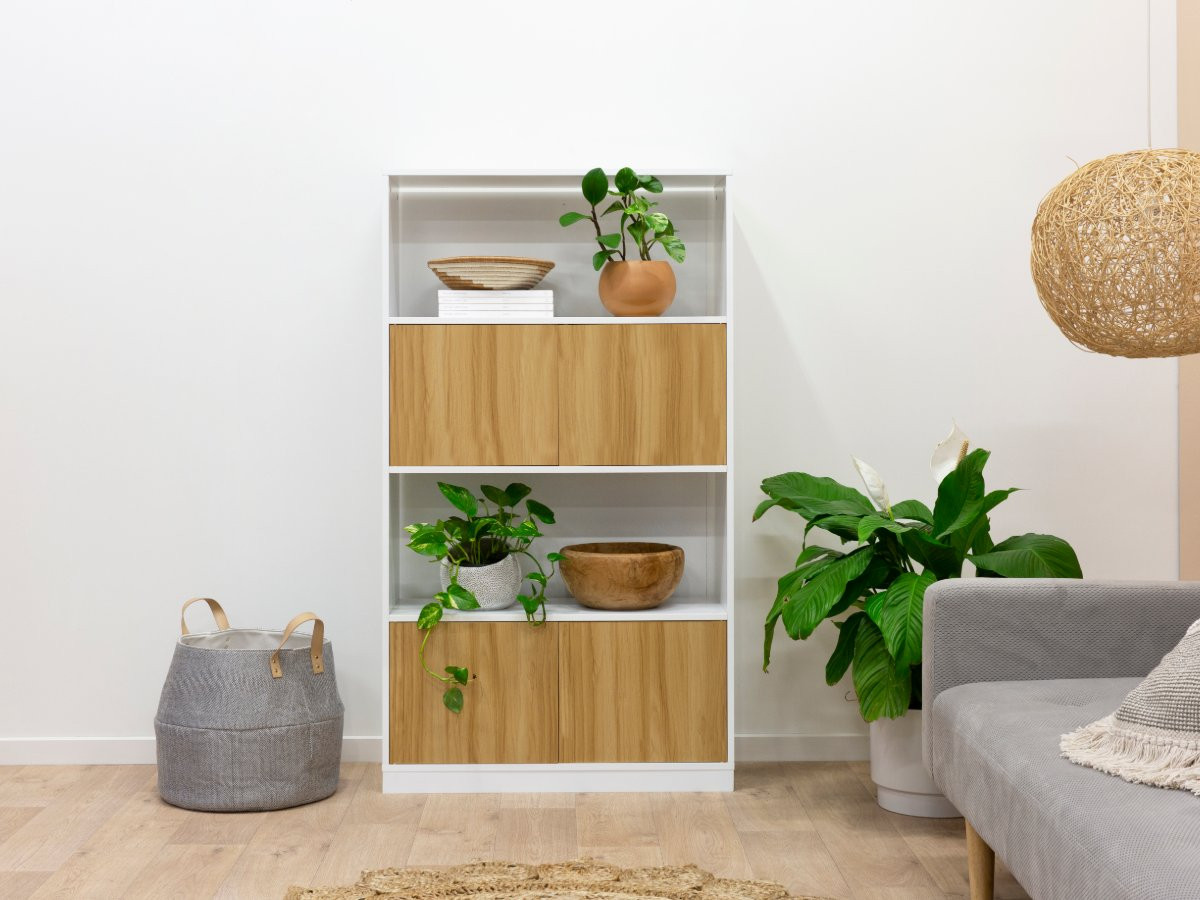 Mocka Essentials Large Bookcase - Natural