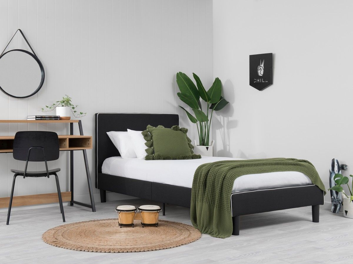 Darcy Bed - Single - Black