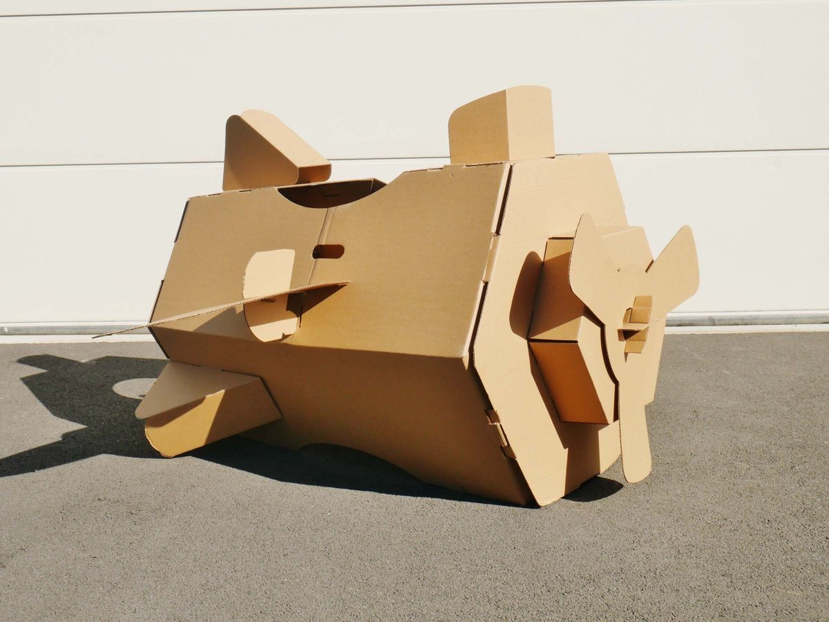 Cardboard Play and Colour - Plane