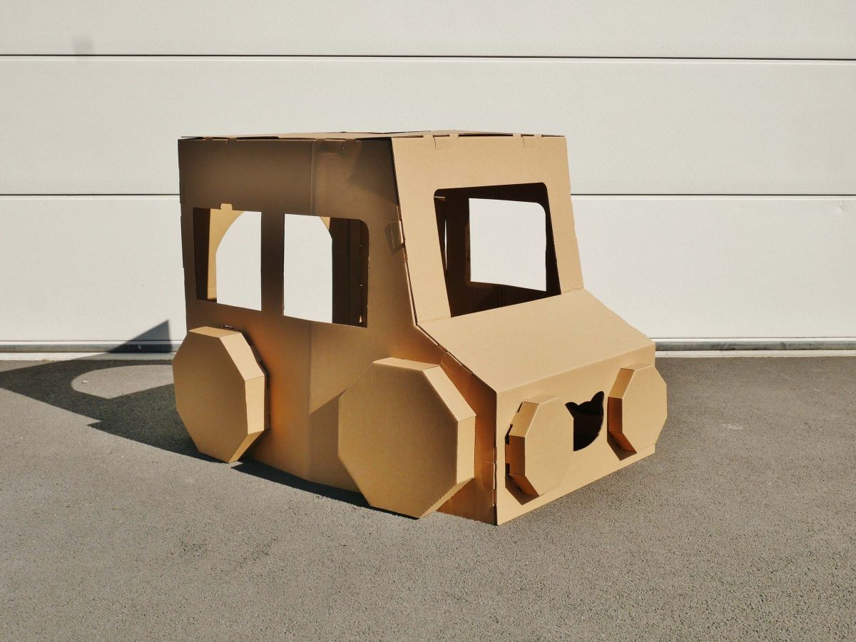 Cardboard Play and Colour - Car