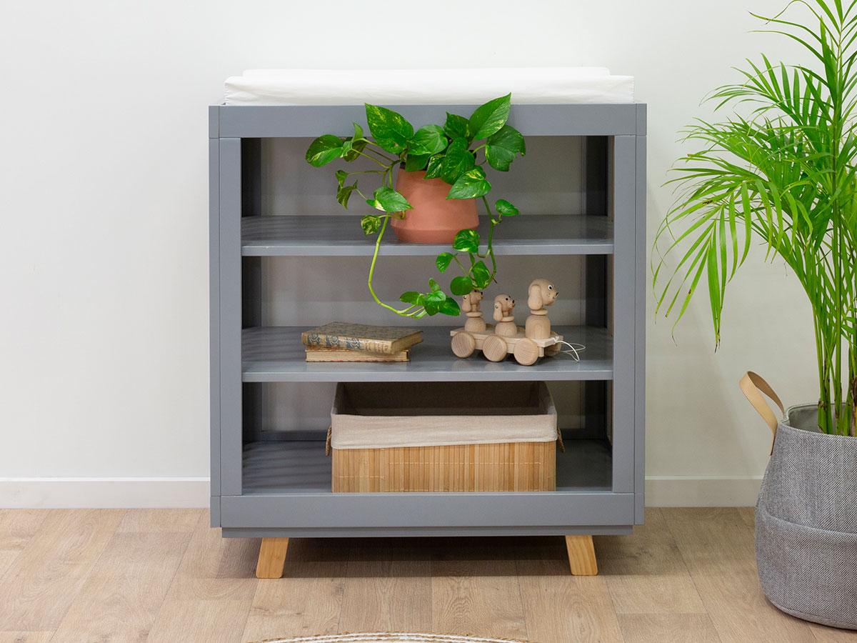 Aspen Change Table - Grey/Natural