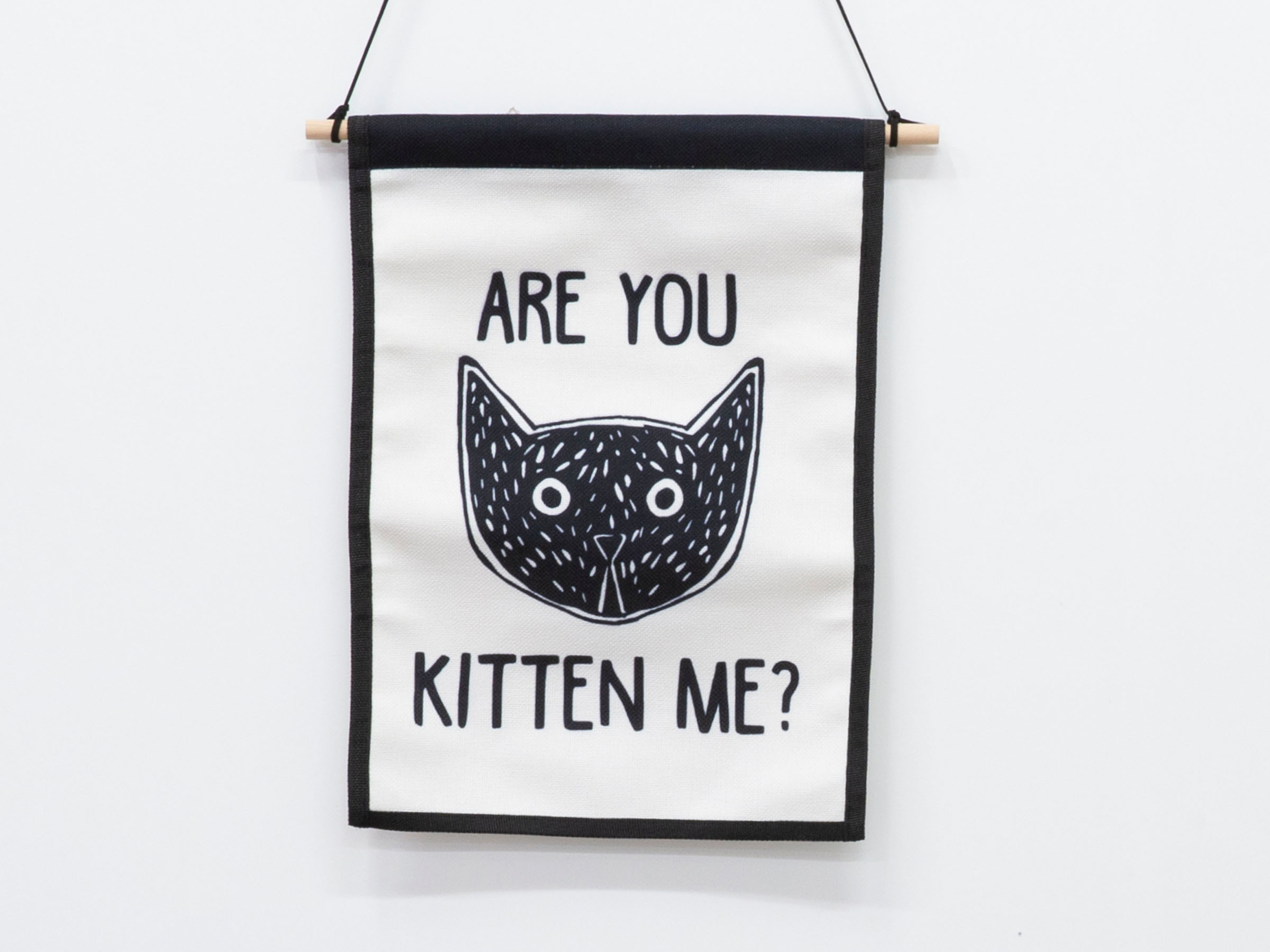Small Wall Art Hanger - Kitten