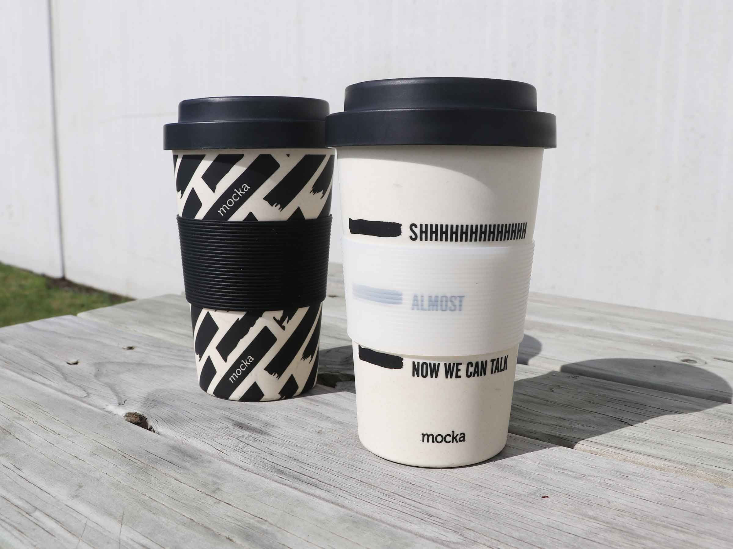 Bamboo Coffee Cup - Shhh