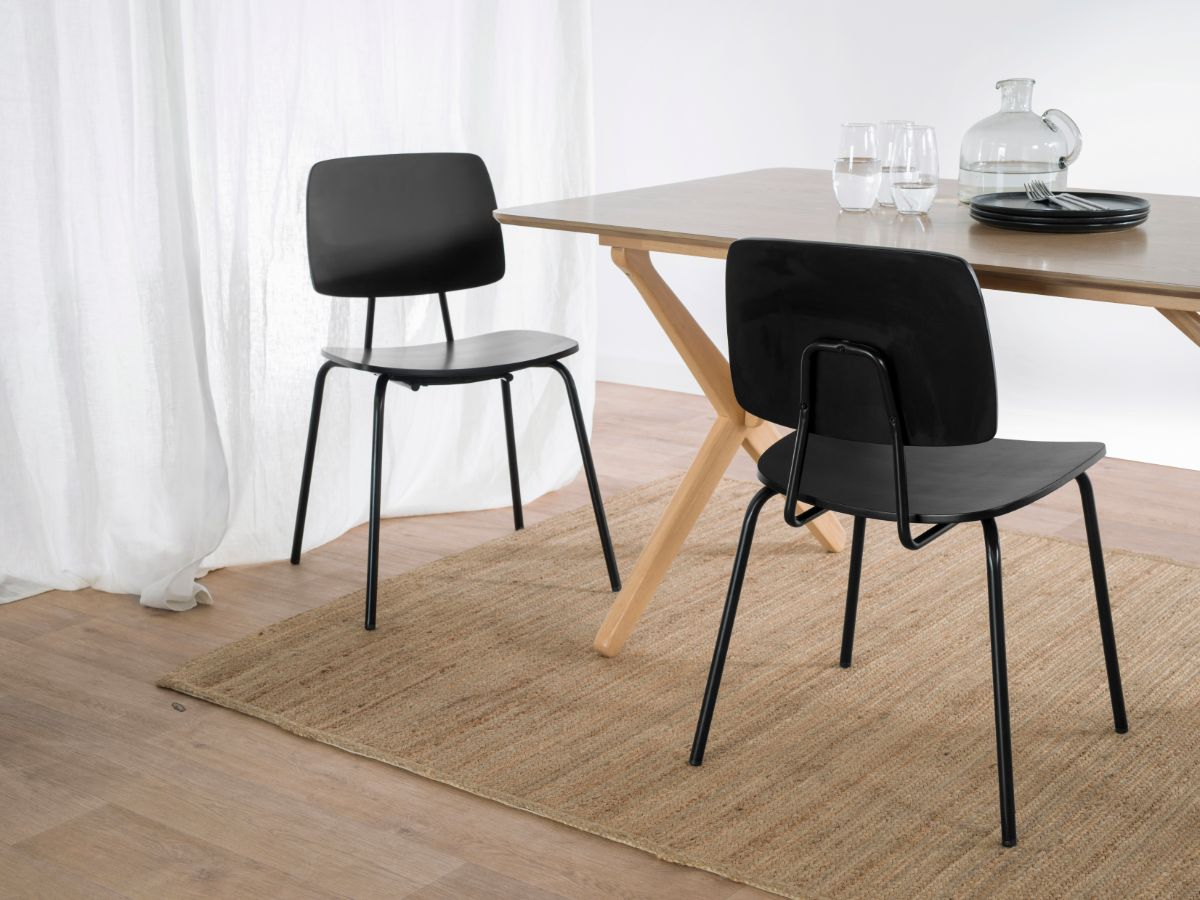Peta Chair - Black - Set of 2