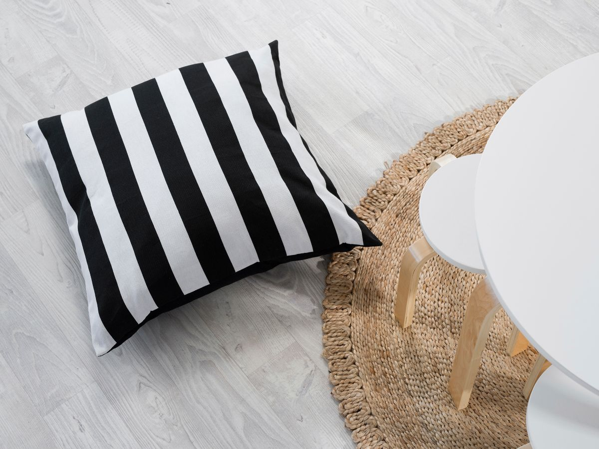 Henley Cushions - Monochrome Stripe