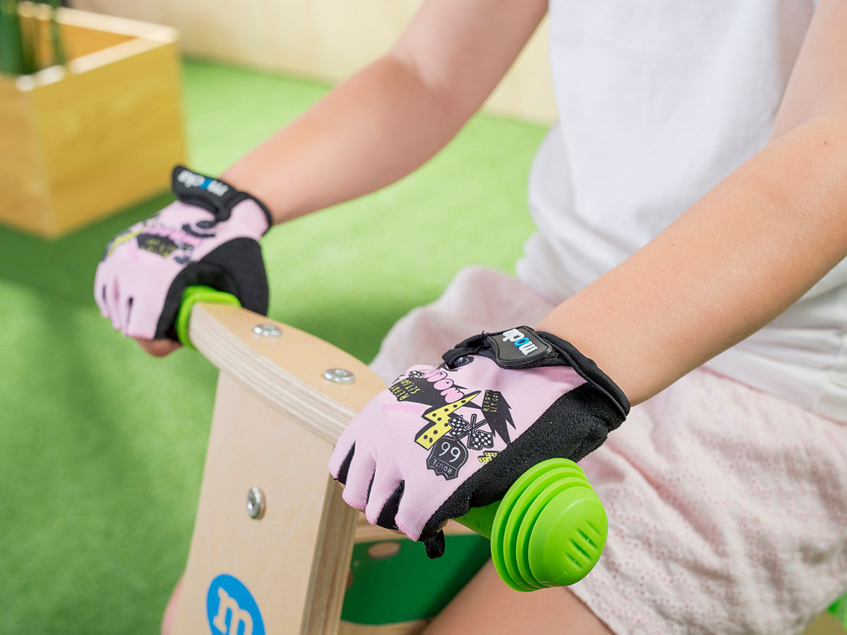 Kids Bike Gloves - Pink
