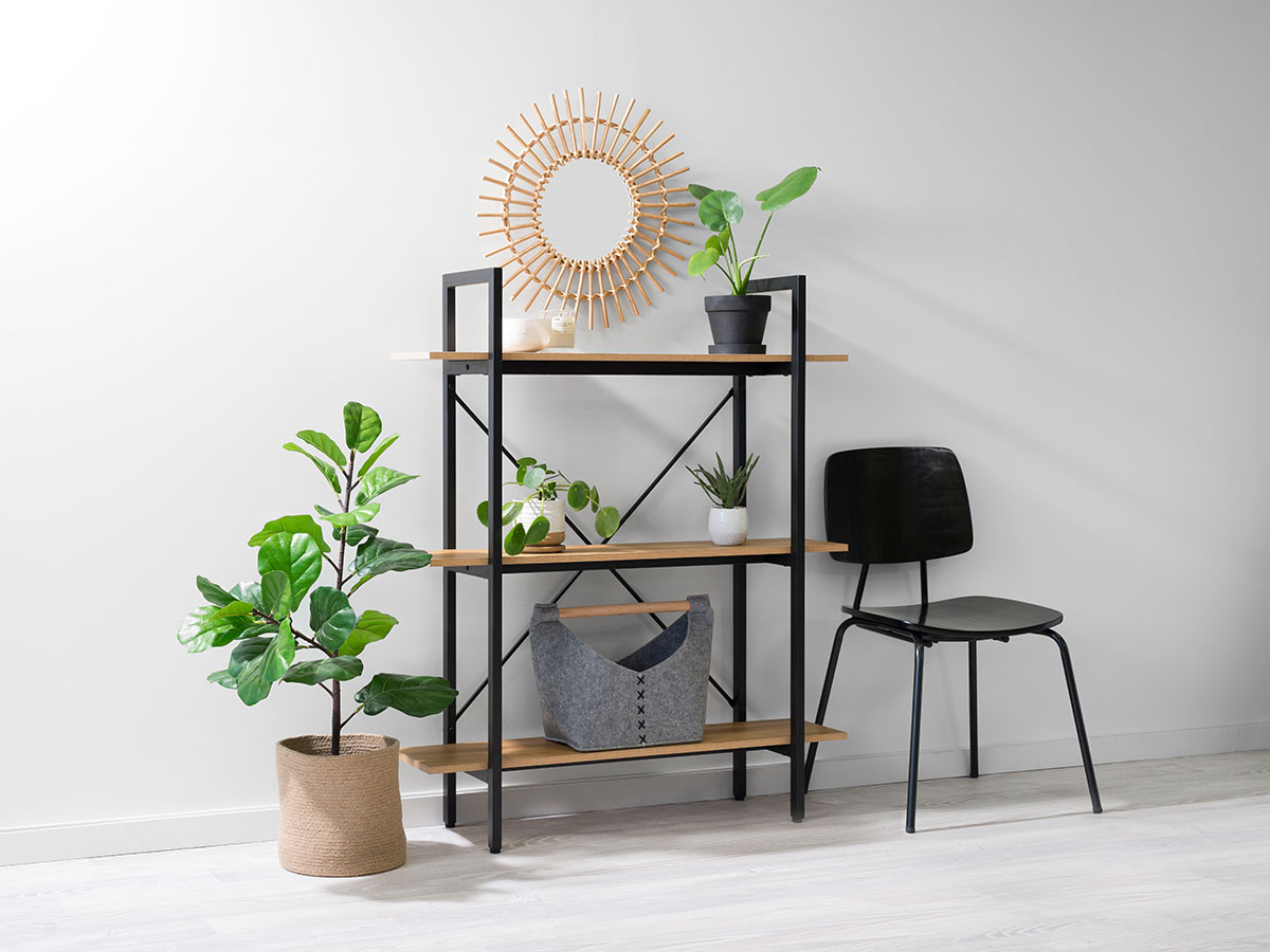 Porto Small Bookcase - Black