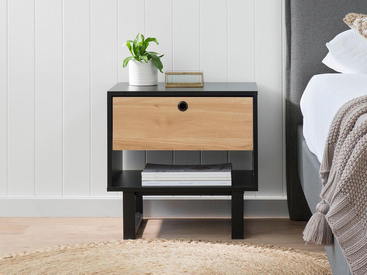 Parker Bedside Table - Black