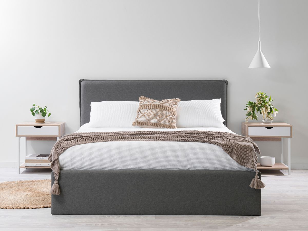 Peyton Queen Bed - Charcoal