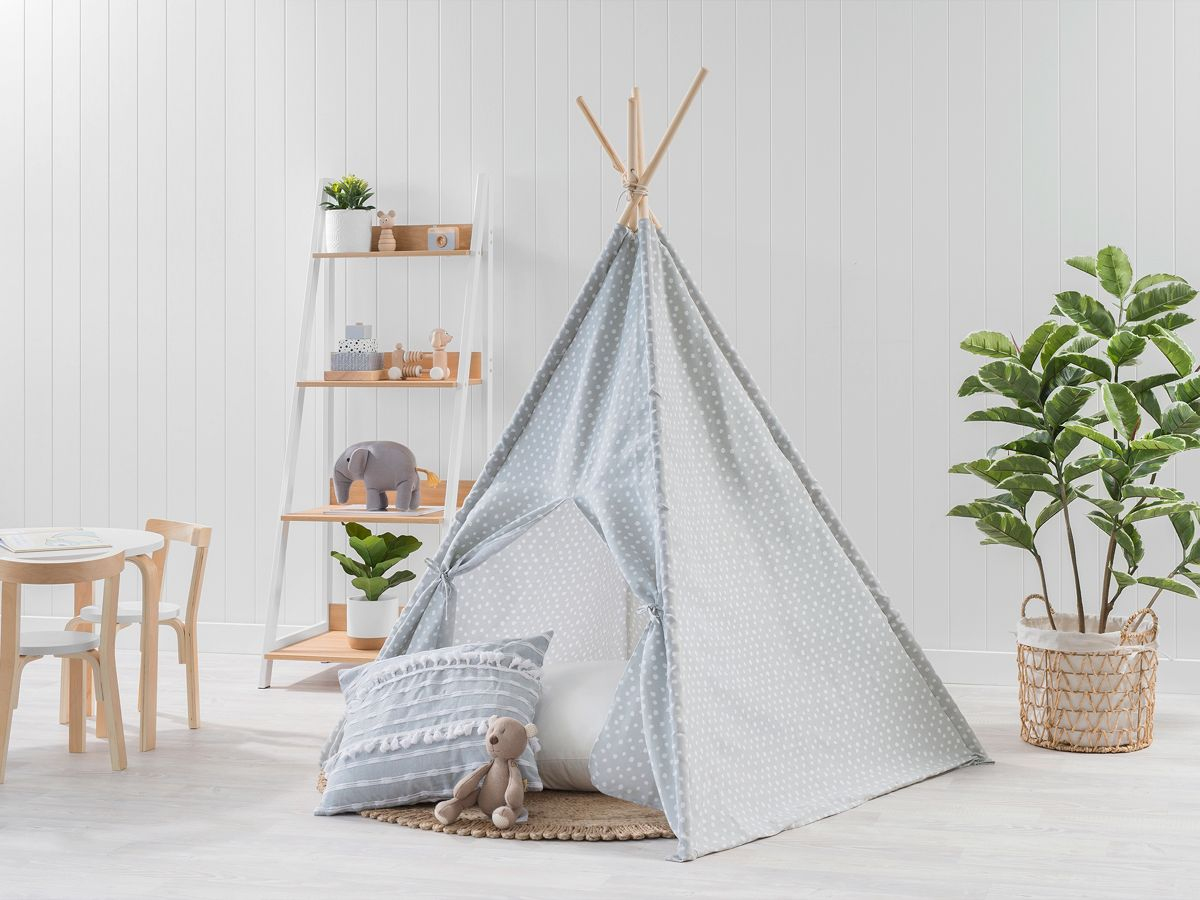 Spots Teepee - Light Grey