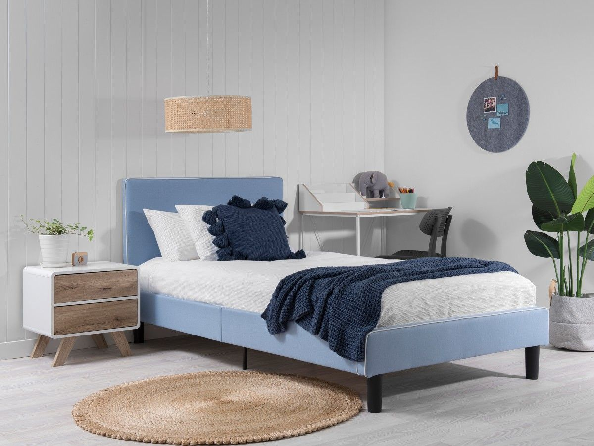Darcy Bed - King Single - Blue