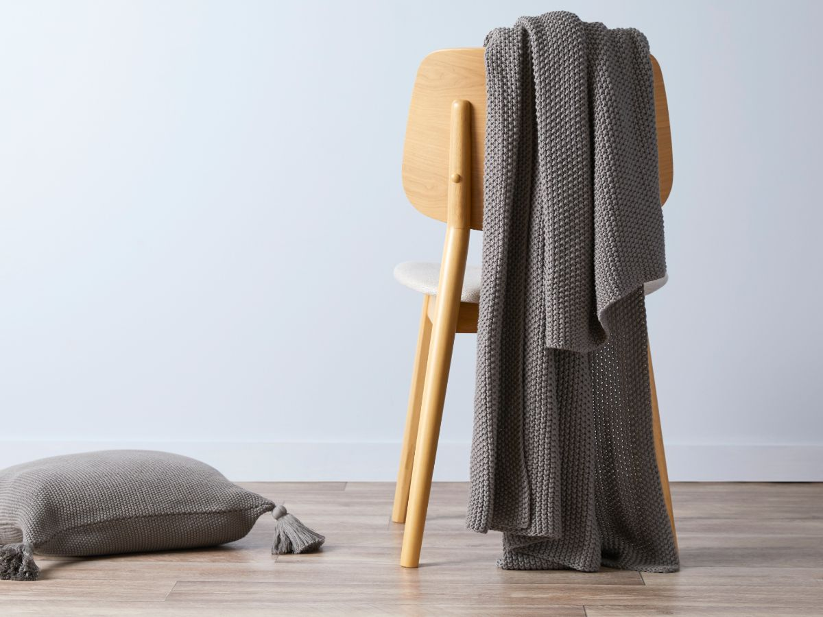 Esther Throw - Charcoal
