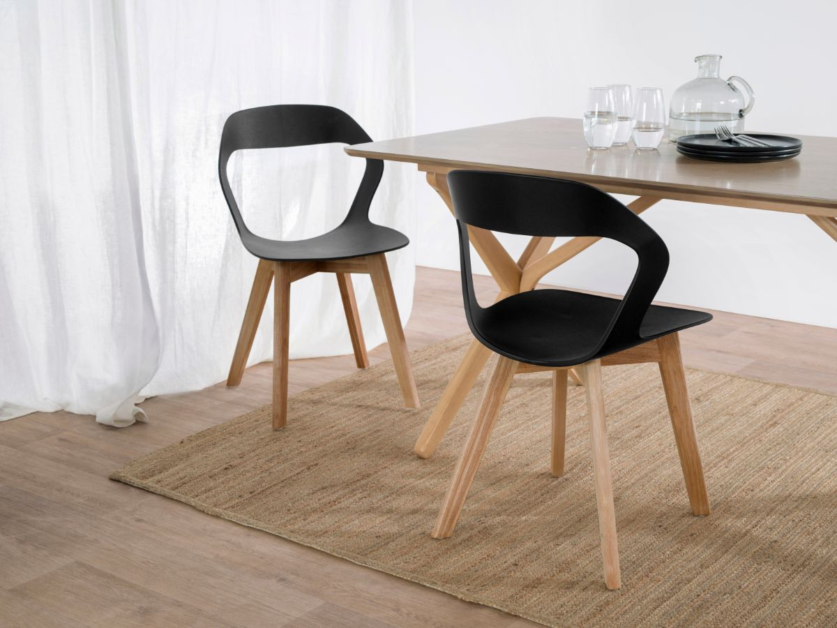 Jasper Dining Chair - Black/Light