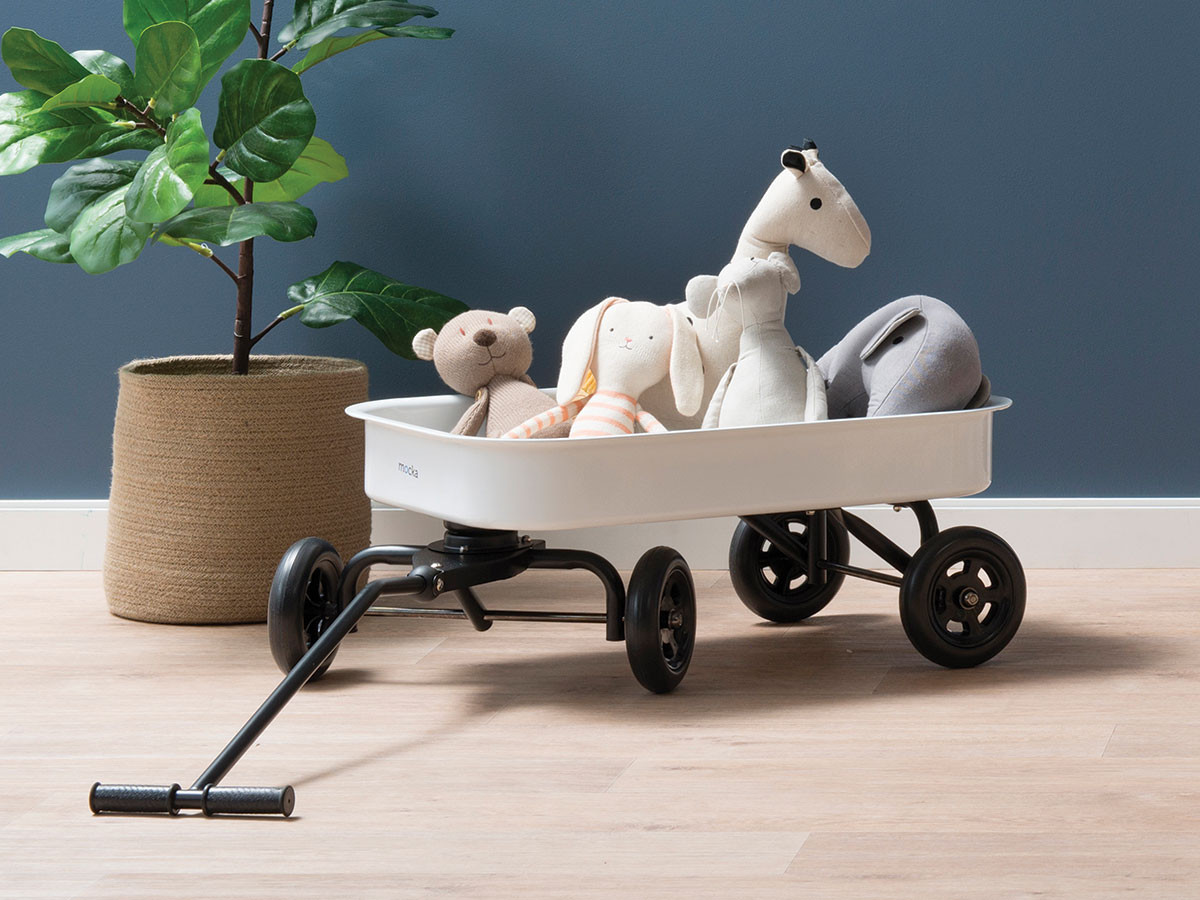Kids Steel Wagon - White