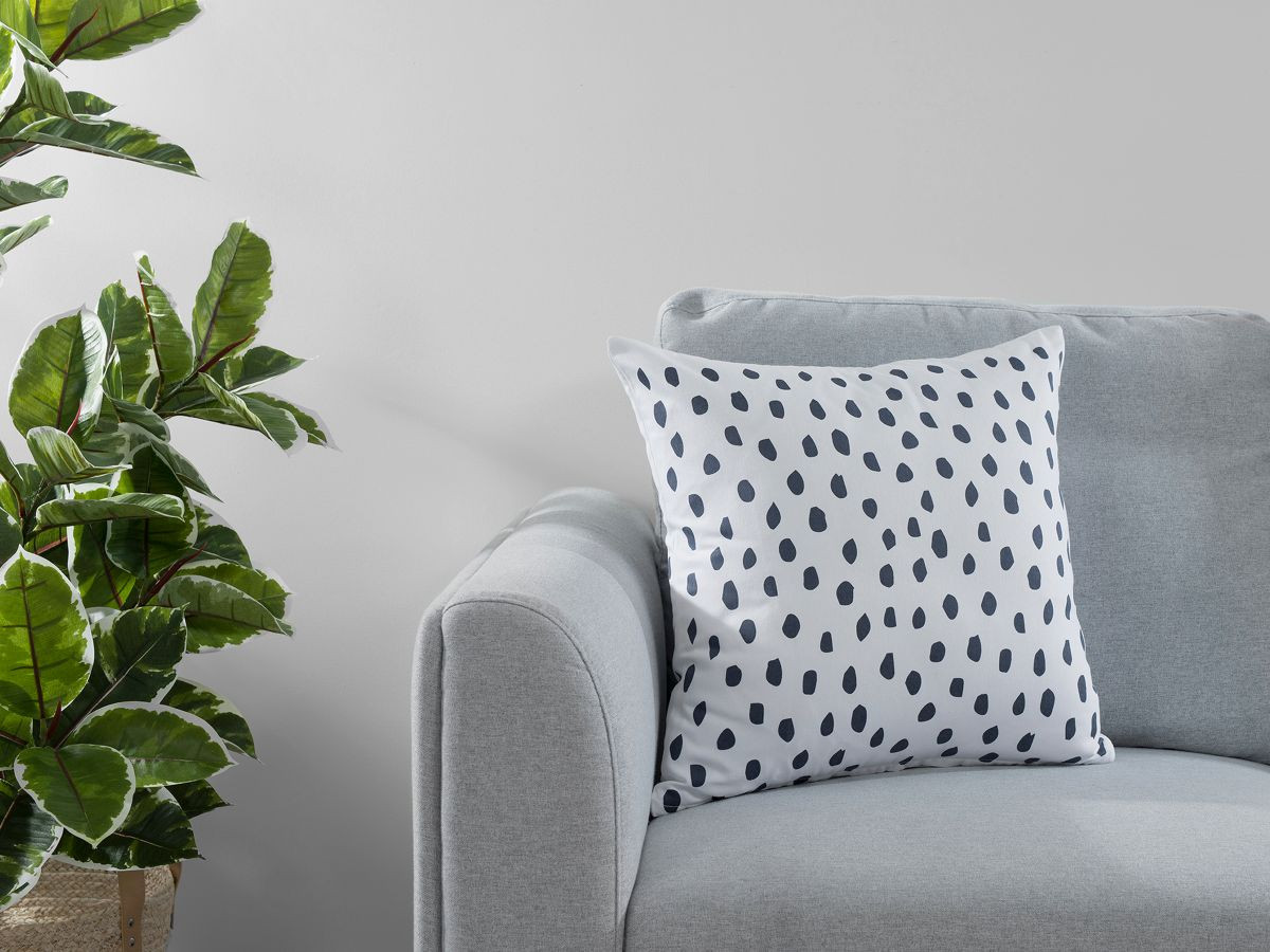 Kiara Spot Cushion Cover - Ink