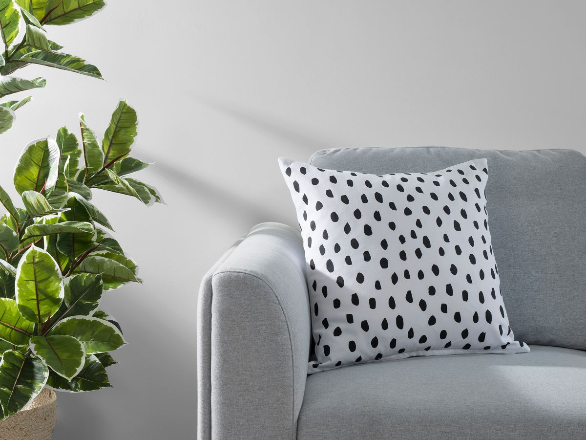 Kiara Spot Cushion Cover - Black