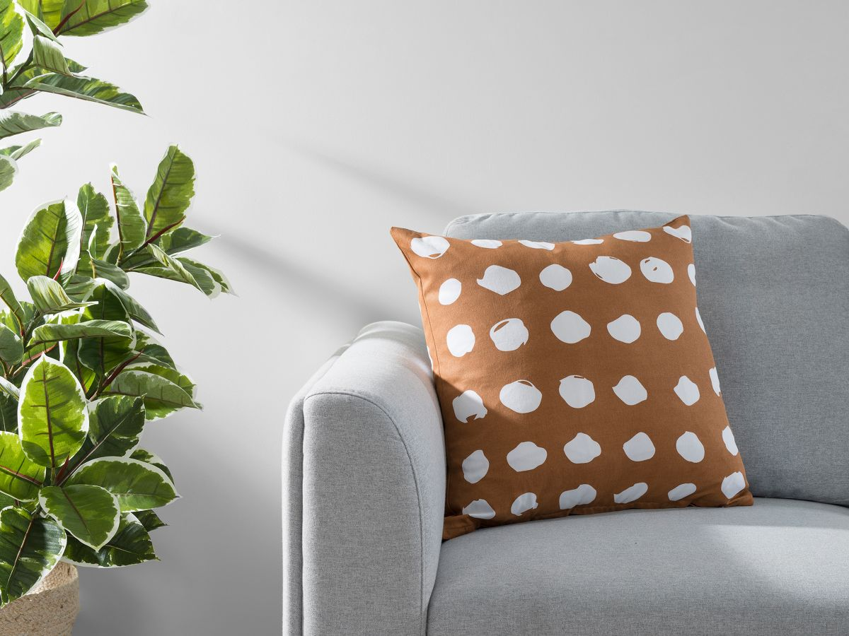 Claire Spot Cushion Cover - Rust