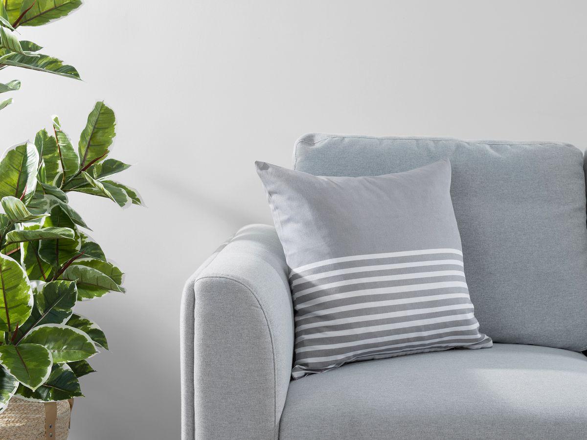 Bedford Stripe Cushion Cover - Grey