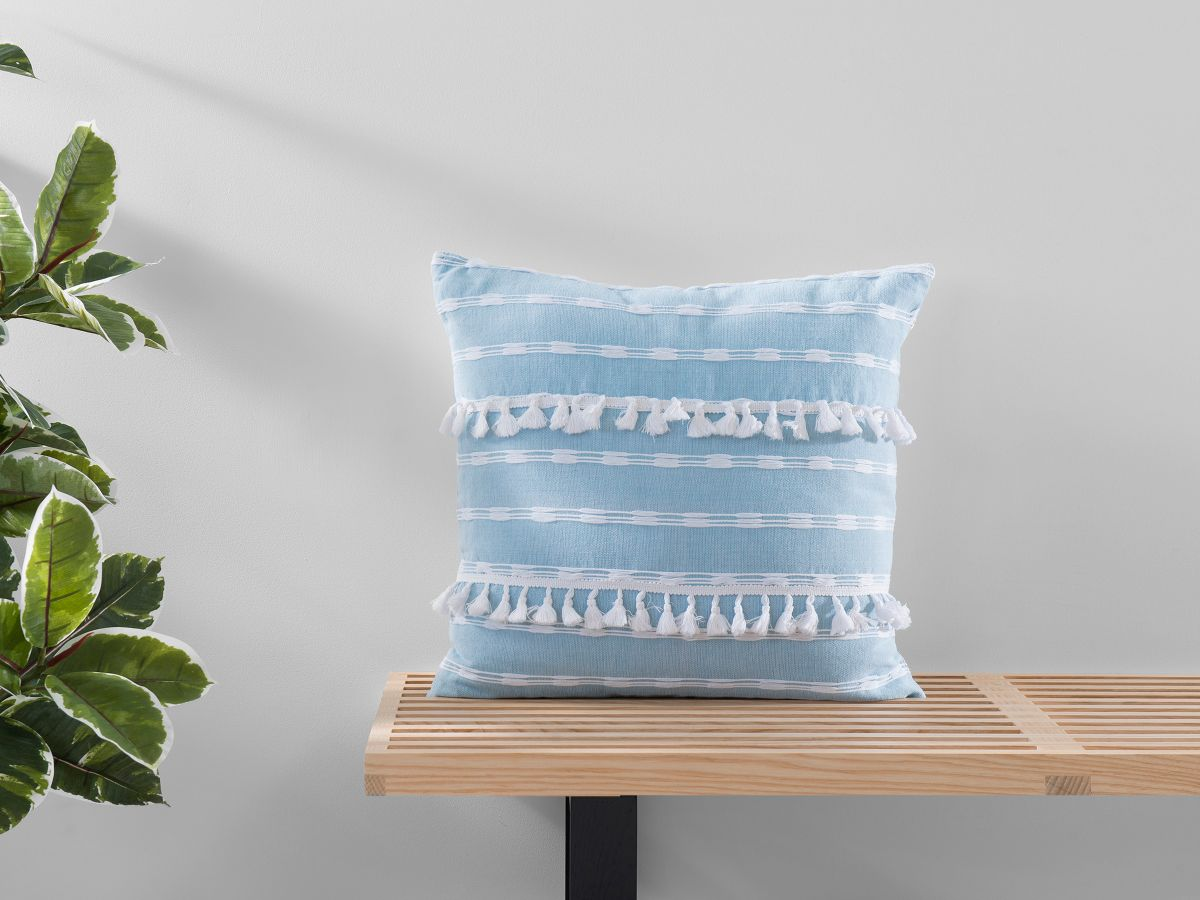Bria Cushion Cover - Square - Blue