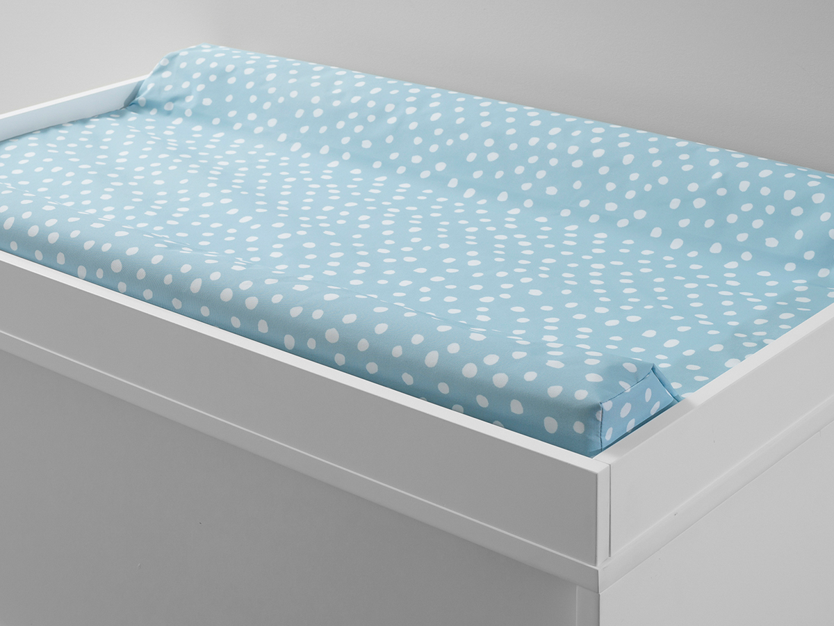 Mocka Change Mat Cover - Blue Spot