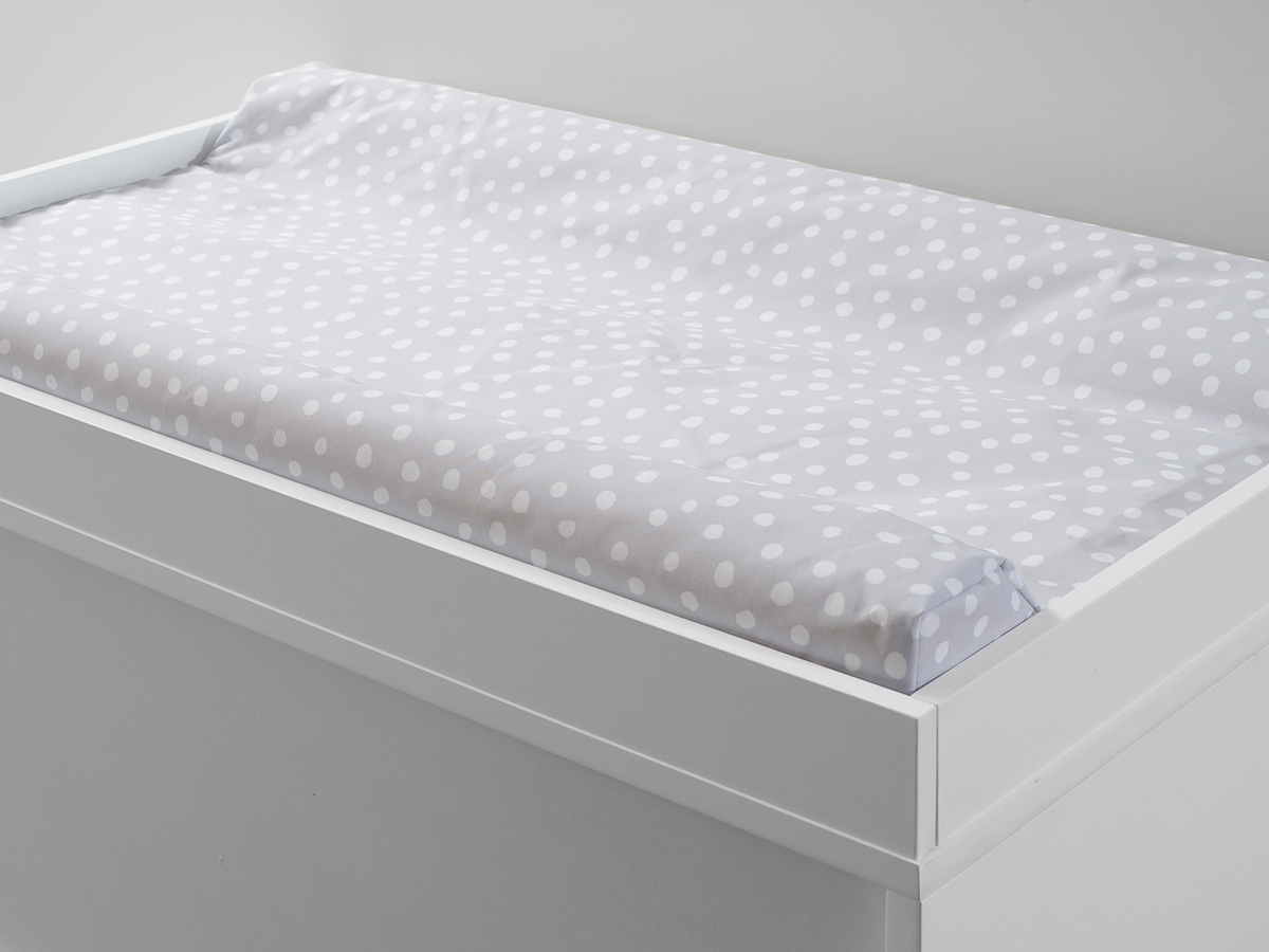 Mocka Change Mat Cover - Grey Spot