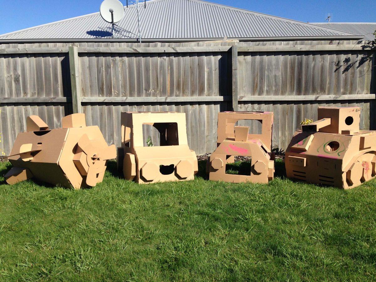 Cardboard Play & Colour