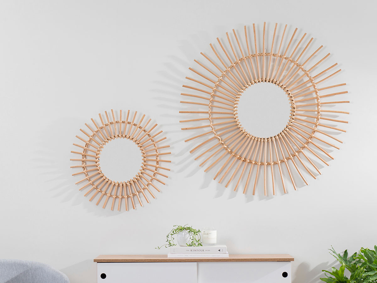 Wicker Mirror - Natural