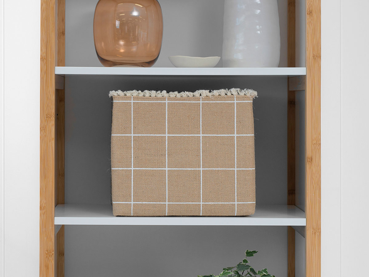 Floyd Square Basket - White Stripe