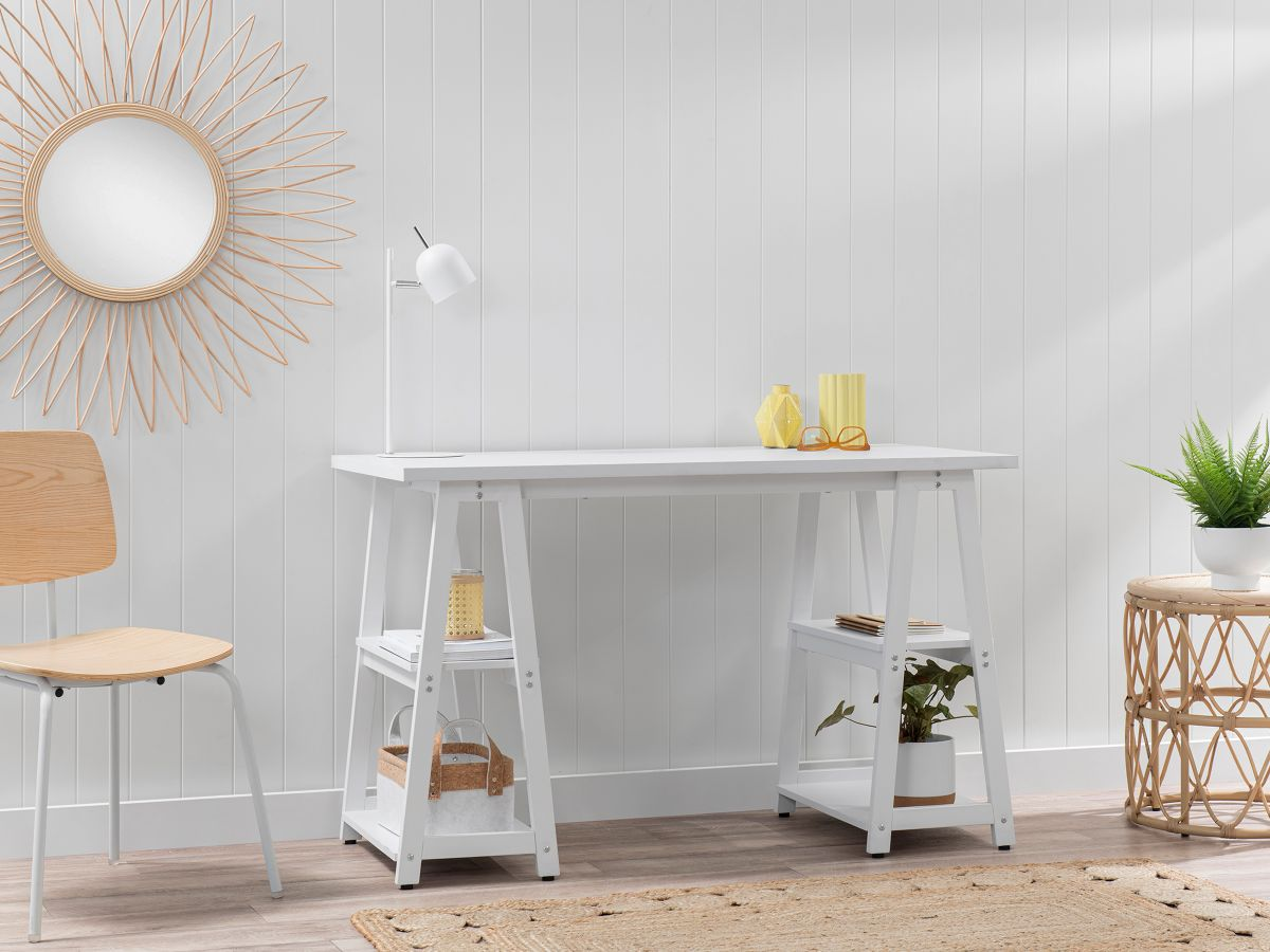 Haywood Trestle Desk - White