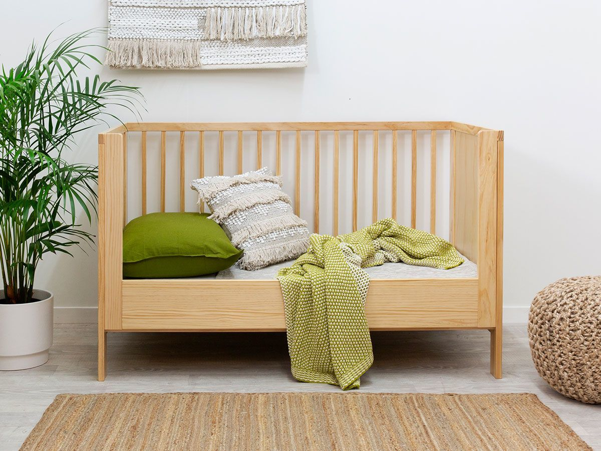 Aspiring Cot Toddler Bed Conversion - Natural