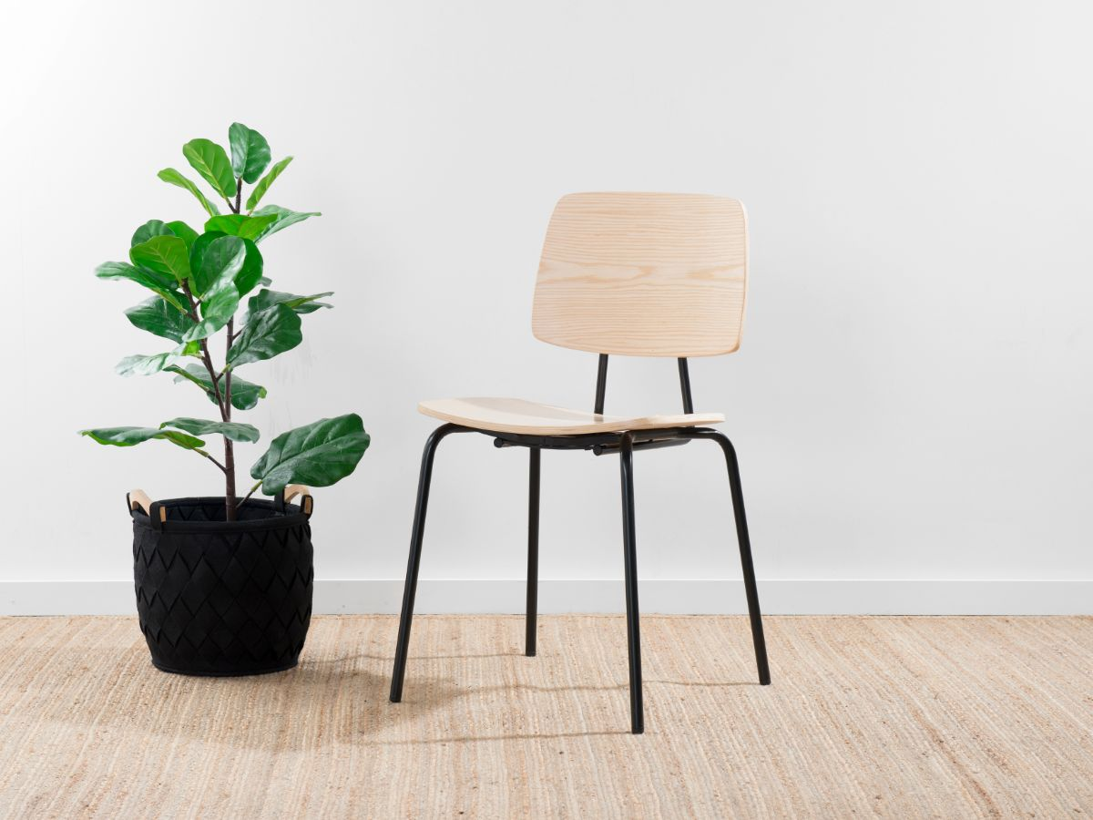 Peta Chair - Black/Natural