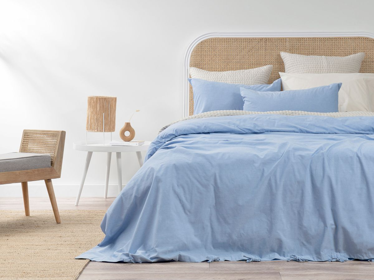 Hayman Chambray Quilt Cover Set - Queen