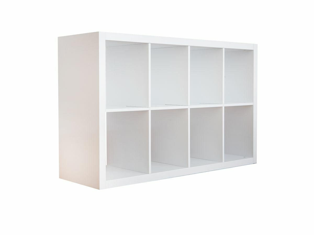 Luna 8 Cube Storage - White