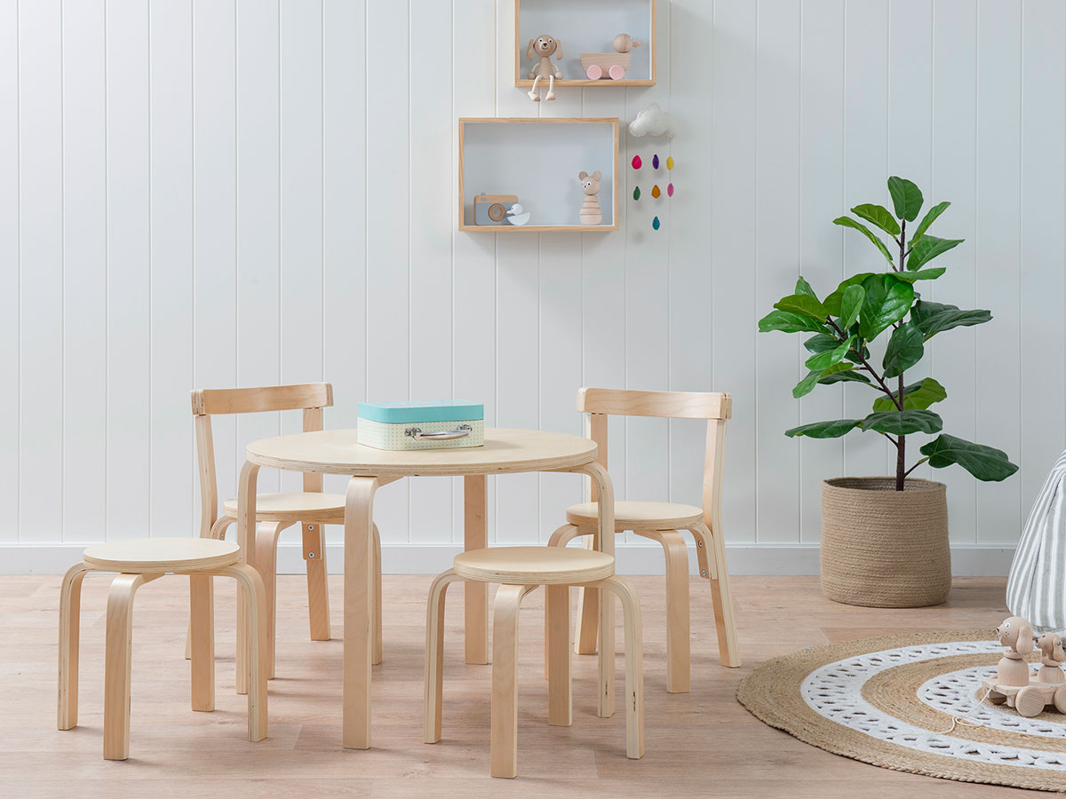 Mocka Hudson Kids Table And Chairs Set Natural Children S Furniture