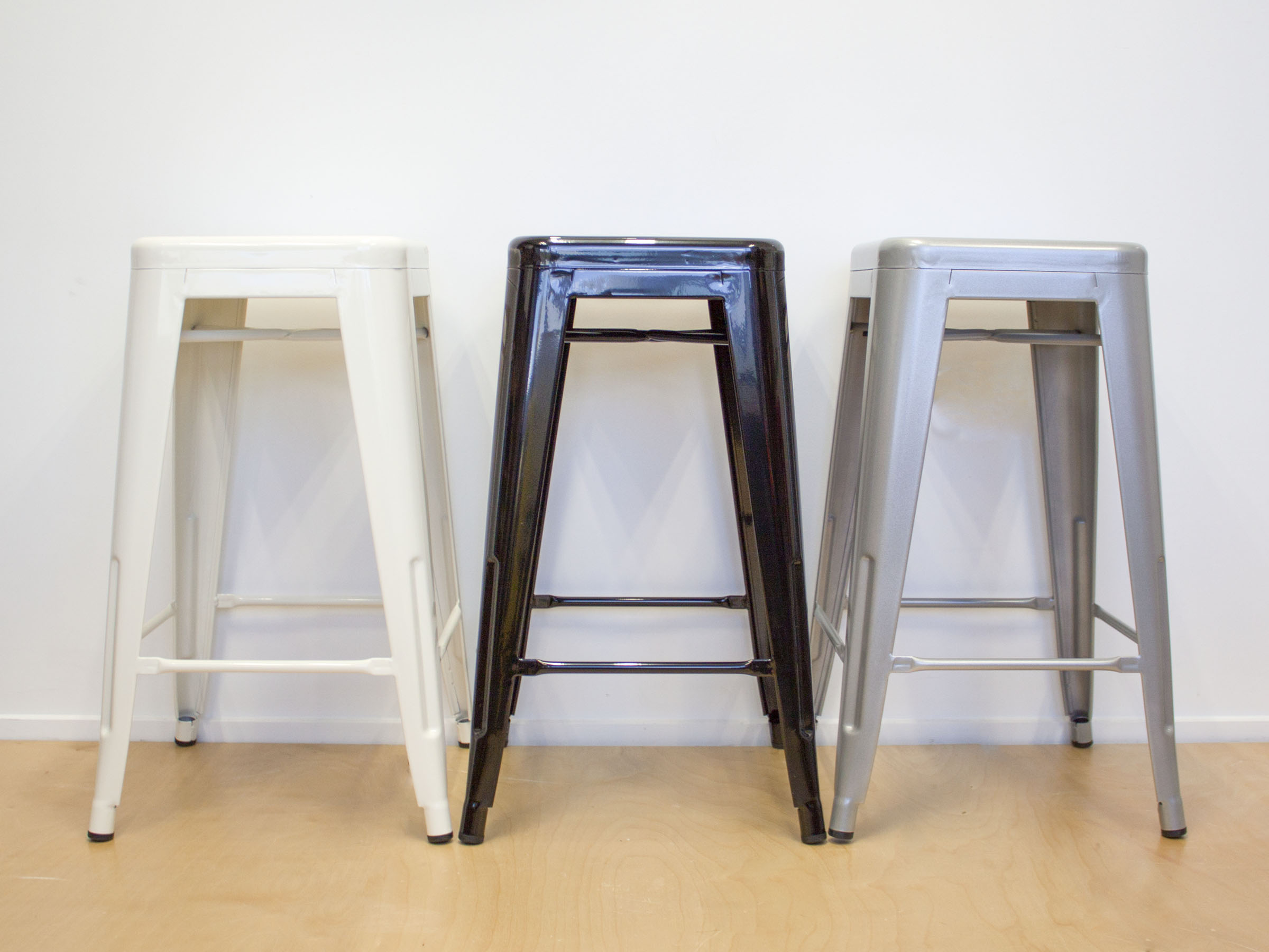 Industrial Bar Stool - Large - White
