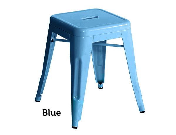 Industrial Stool - Small - Blue