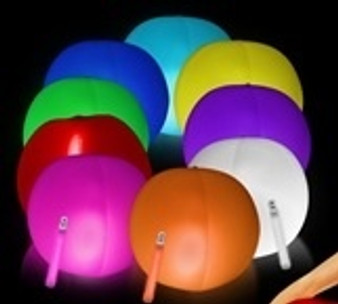 glow beach ball led glowing flashing ball beach volleyball pool party