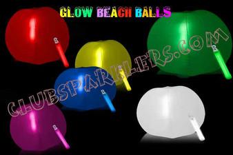 GLOWING BEACH BALL 24 INCH