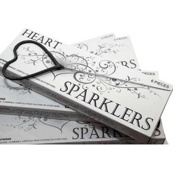 Heart-shaped sparklers for weddings & special events